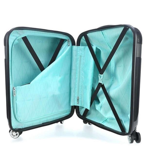 Пластиковый чемодан 40x55x20см Titan Spotlight Flash графитного цвета