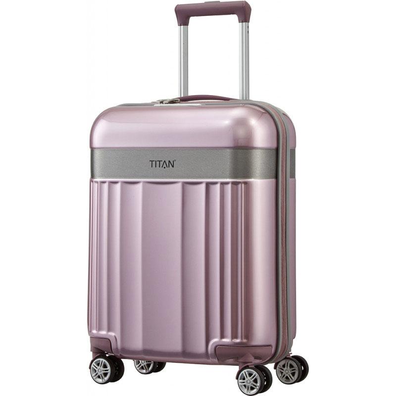 Чемодан 40x55x20см Titan Spotlight Flash розового цвета