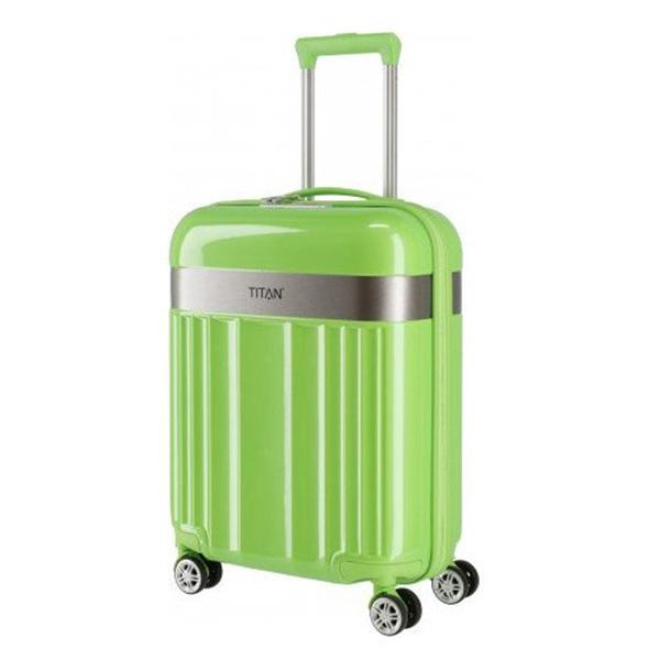Малый чемодан 40x55x20см Titan Spotlight Flash Flashy Kiwi зеленого цвета