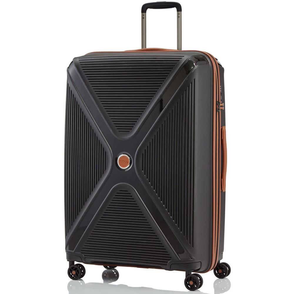 Дорожный чемодан 51x71x31см Titan Paradoxx черного цвета