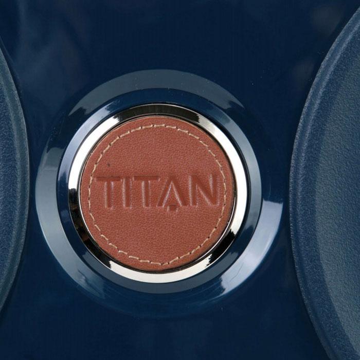 Чемодан синего цвета 45x68x28см Titan Paradoxx среднего размера