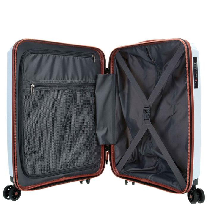 Белый дорожный чемодан 40x55x20см Titan Paradoxx