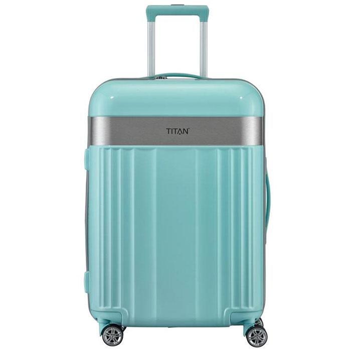 Средний чемодан 45x67x27см Titan Spotlight Flash мятного цвета