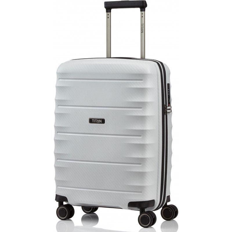 Маленький чемодан 40x55x20см Titan Highlight белый