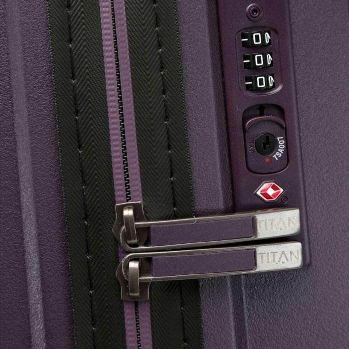 Большой чемодан 51x77x30см Titan Looping фиолетовый
