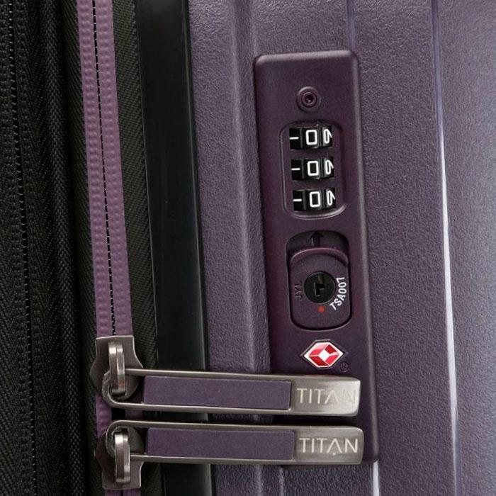 Средний чемодан 45x67x27-31см Titan Looping фиолетовый