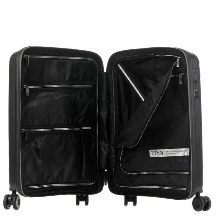 Маленький чемодан 39x55x20см Titan Looping черный