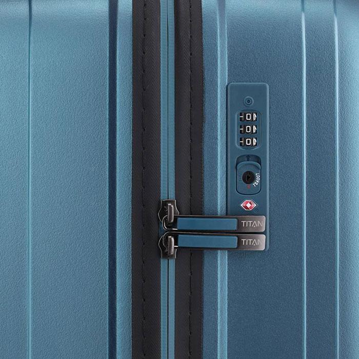Маленький чемодан 39x55x20см Titan Looping синий