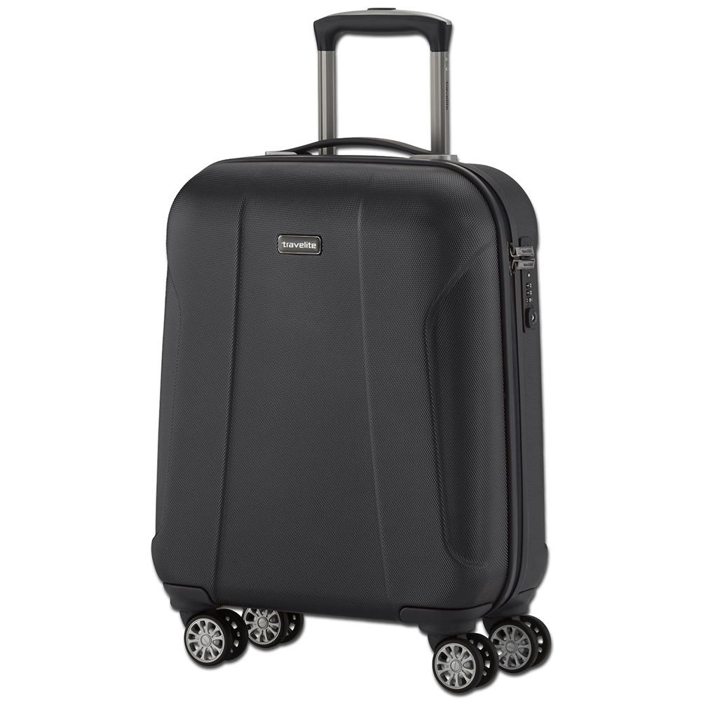 Черного цвета чемодан 55x40х20см Travelite Elbe Two размера ручной клади