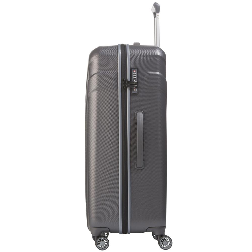 Большой чемодан 77x51х28см Travelite Vector в благородном оттенке антрацита