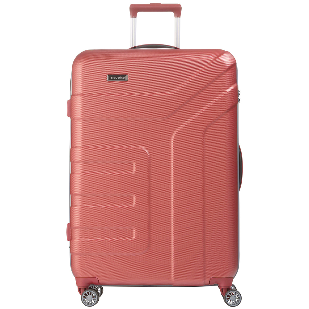 Чемодан 77x51х28см Travelite Vector с геометрическими линиями на корпусе