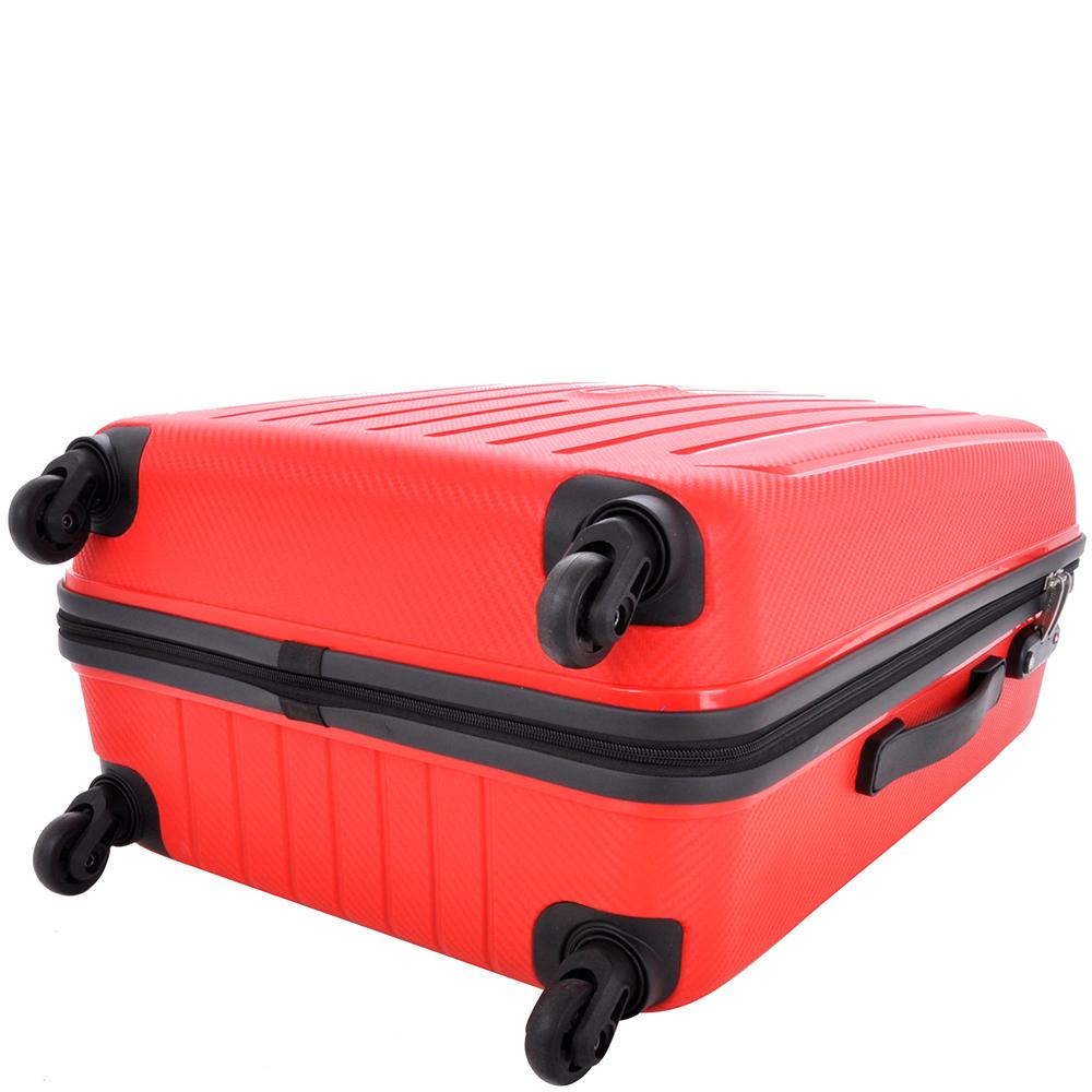 Большой чемодан 75x52х31см Travelite Uptown в красном цвете