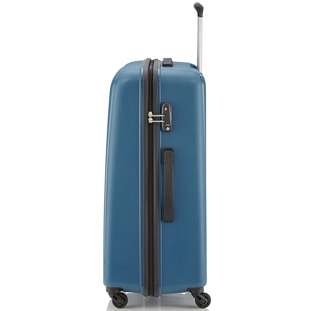 Большой синий чемодан 75x52х31см Travelite Uptown с кодовым замком TSA