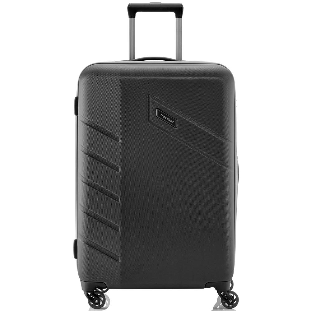 Чемодан черного цвета 76x50х28см Travelite Tourer с корпусом из полимера