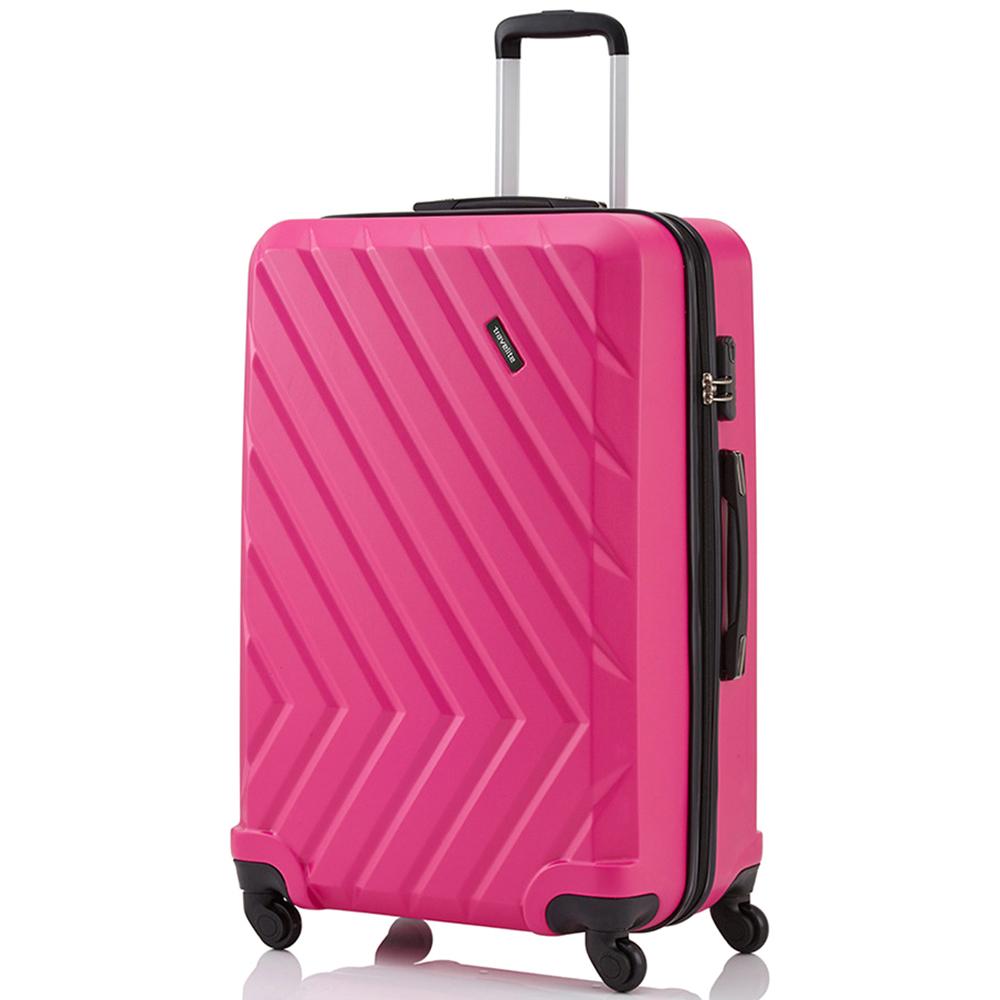 Розовый чемодан 74x48х29см Travelite Quick из полимерного материала