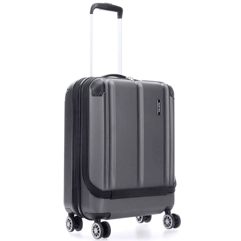 Маленький чемодан Travelite City черного цвета 40x55x20см
