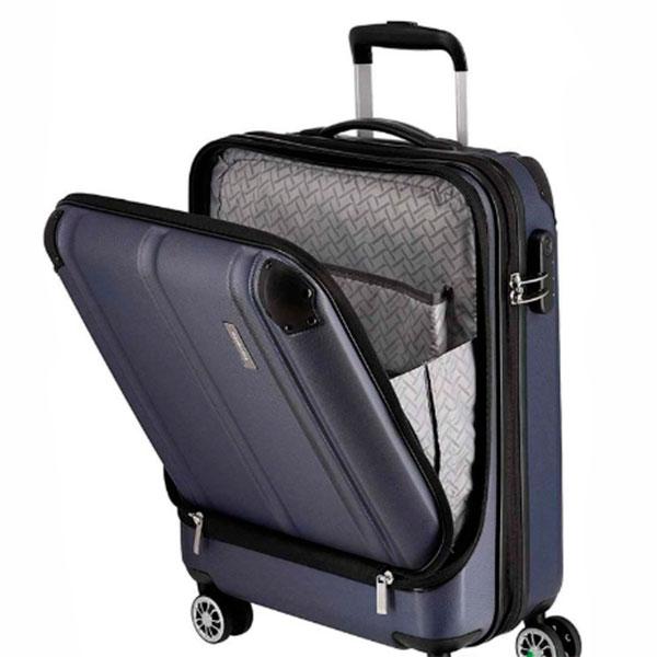 Синий чемодан на колесах Travelite City 40x55x20см