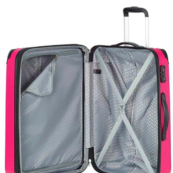 Чемодан розовый Travelite City боьшой 44x68x28см