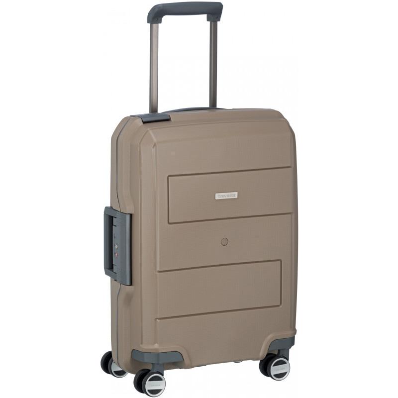Малый бежевый чемодан 39x55x20см Travelite Makro на колесах