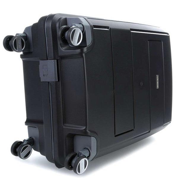 Черный чемодан 52x75x31см Travelite Makro большого размера