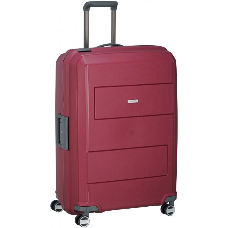 Большой чемодан на колесах 52x75x31см Travelite Makro красного цвета