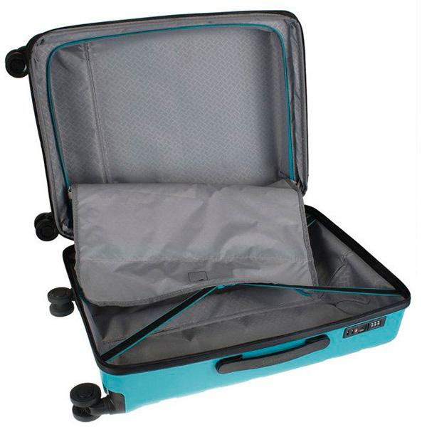 Голубой дорожный чемодан 52x77x29см Travelite Kosmos