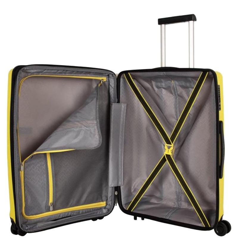 Большой чемодан 52x77x29см Travelite Kosmos желтого цвета