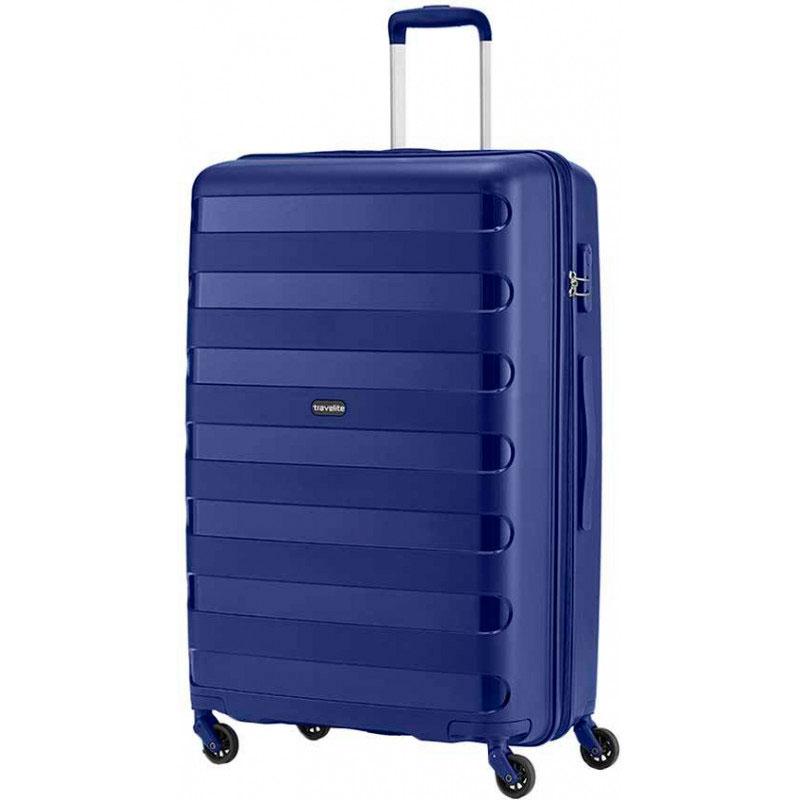 Чемодан Travelite Nova синего цвета 50x75x30см