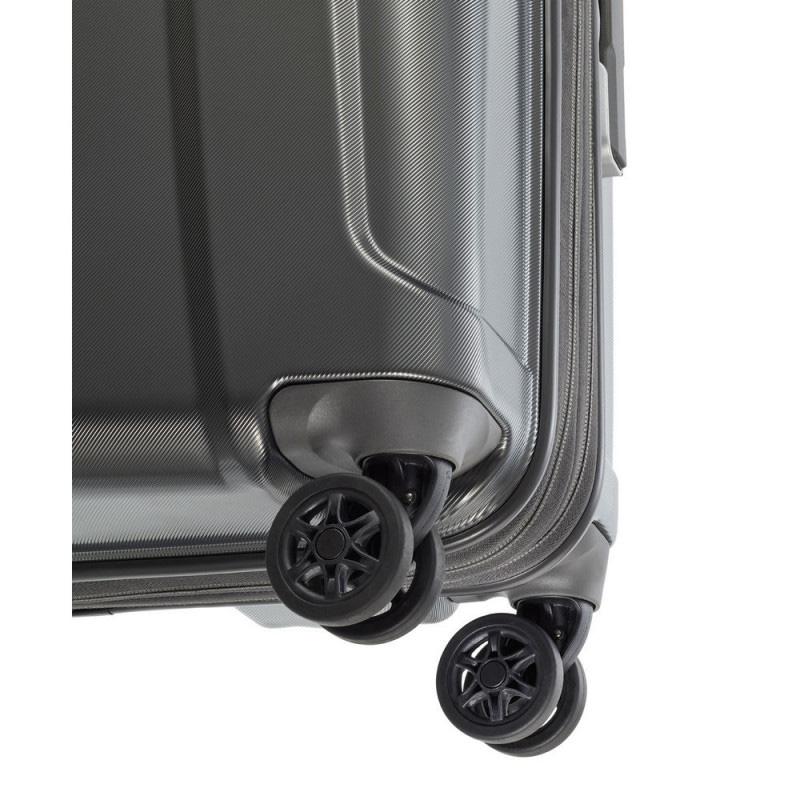 Чемодан на колесах 40x55x20см Travelite Elbe серого цвета
