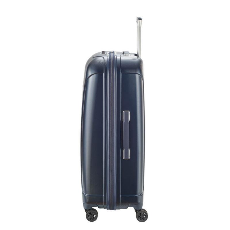 Дорожный чемодан на колесах 46x66x26см Travelite Elbe синего цвета