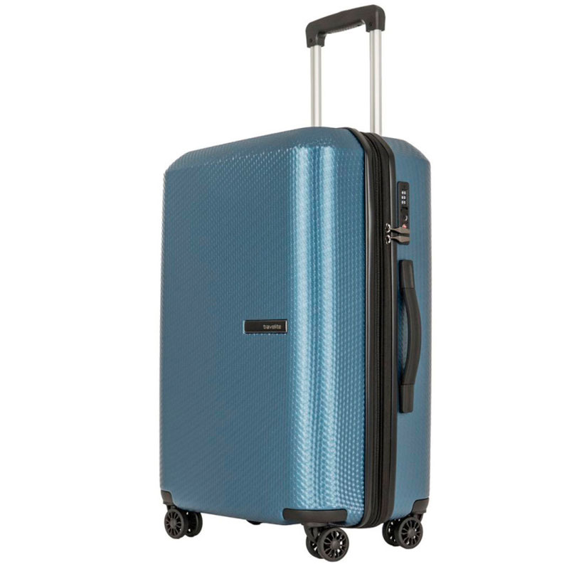 Чемодан большой Travelite Skywalk синего цвета 44x66x29/33см