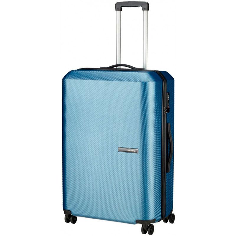 Большой чемодан Travelite Skywalk синего цвета 50x76x31см