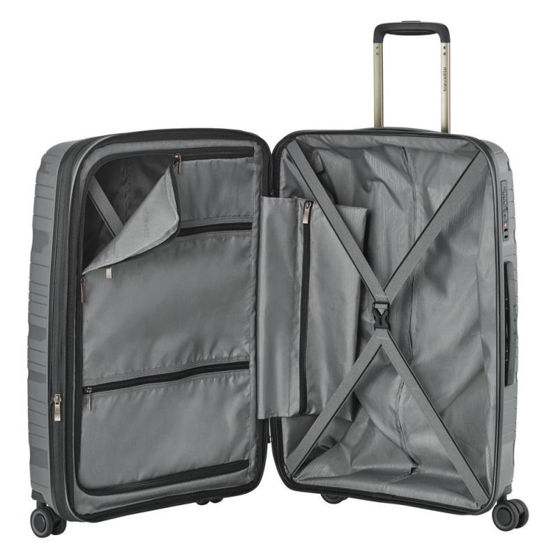 Чемодан средний 45x67x27см Travelite Motion серого цвета