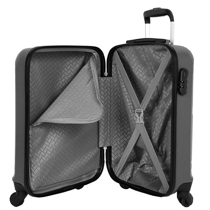 Большой чемодан 48x76x30см Travelite Yamba 8w серого цвета