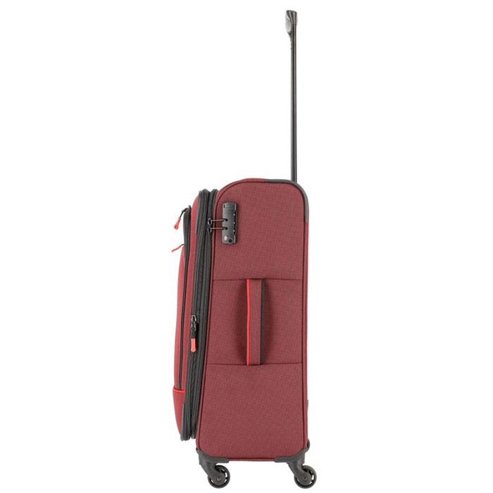 Средний чемодан 42x66x27-31см Travelite Derby красного цвета