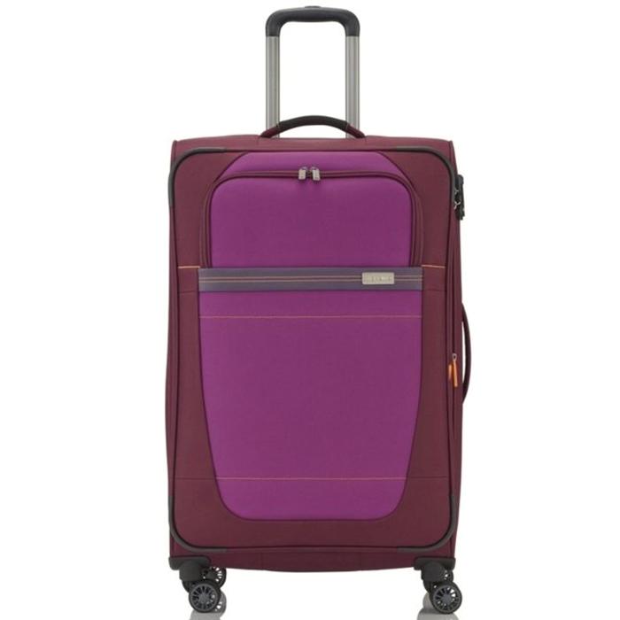 Большой красный чемодан 77x47х31-35см Travelite Meteor с функцией расширения