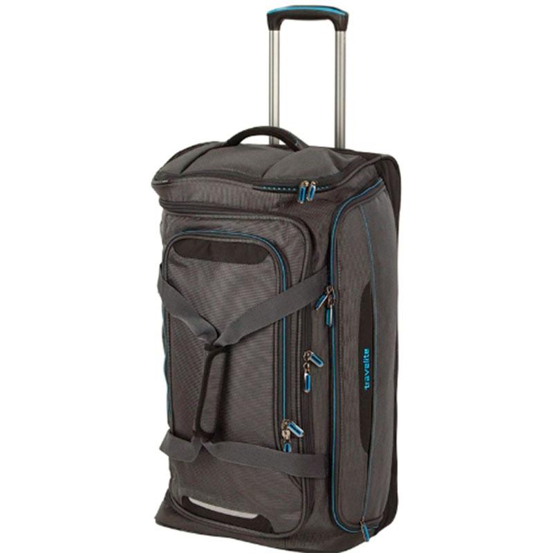 Дорожная сумка на колесах Travelite Crosslite серого цвета