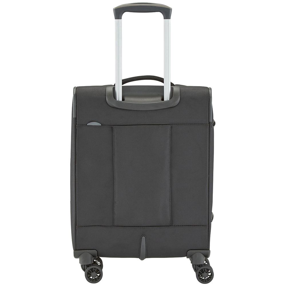 Черный чемодан 55x39х20см Travelite Crosslite маленького размера