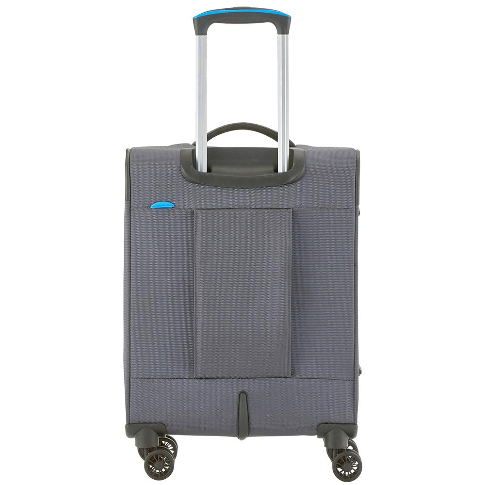 Текстильный маленький чемодан 55x39х20см Travelite Crosslite темно-серого цвета