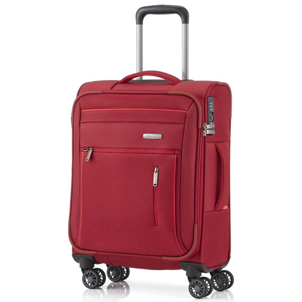 Чемодан красного цвета 55x38х20см Travelite Capri с замком блокировки TSA