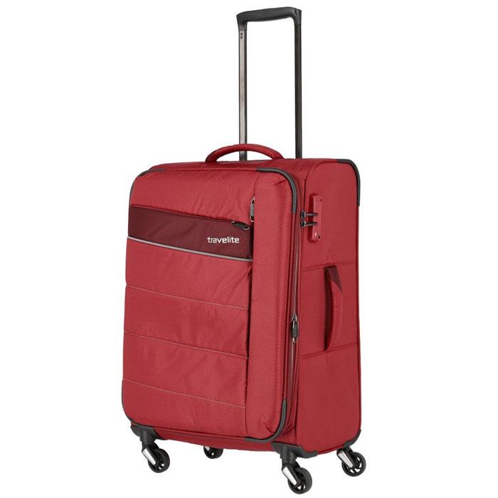 Средний чемодан 42x64x27-31см Travelite Kite красного цвета