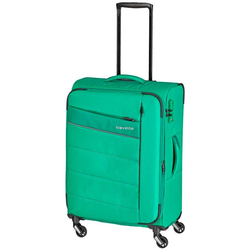 Чемодан Travelite Kite зеленого цвета 42x64x27/31см на колесах