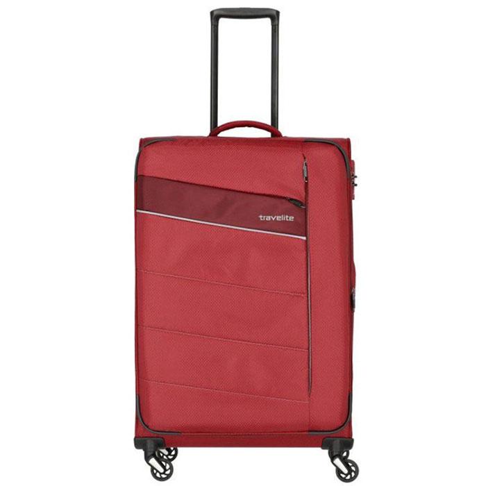 Большой чемодан 47x75x29-33см Travelite Kite красного цвета