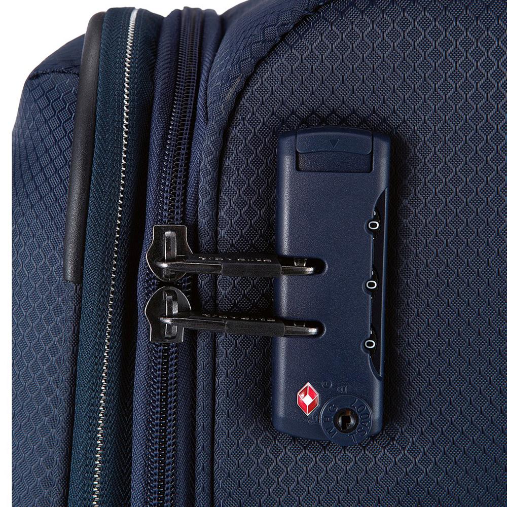Темно-синий текстильный чемодан 75x47х29-33см Travelite Kite для путешествий