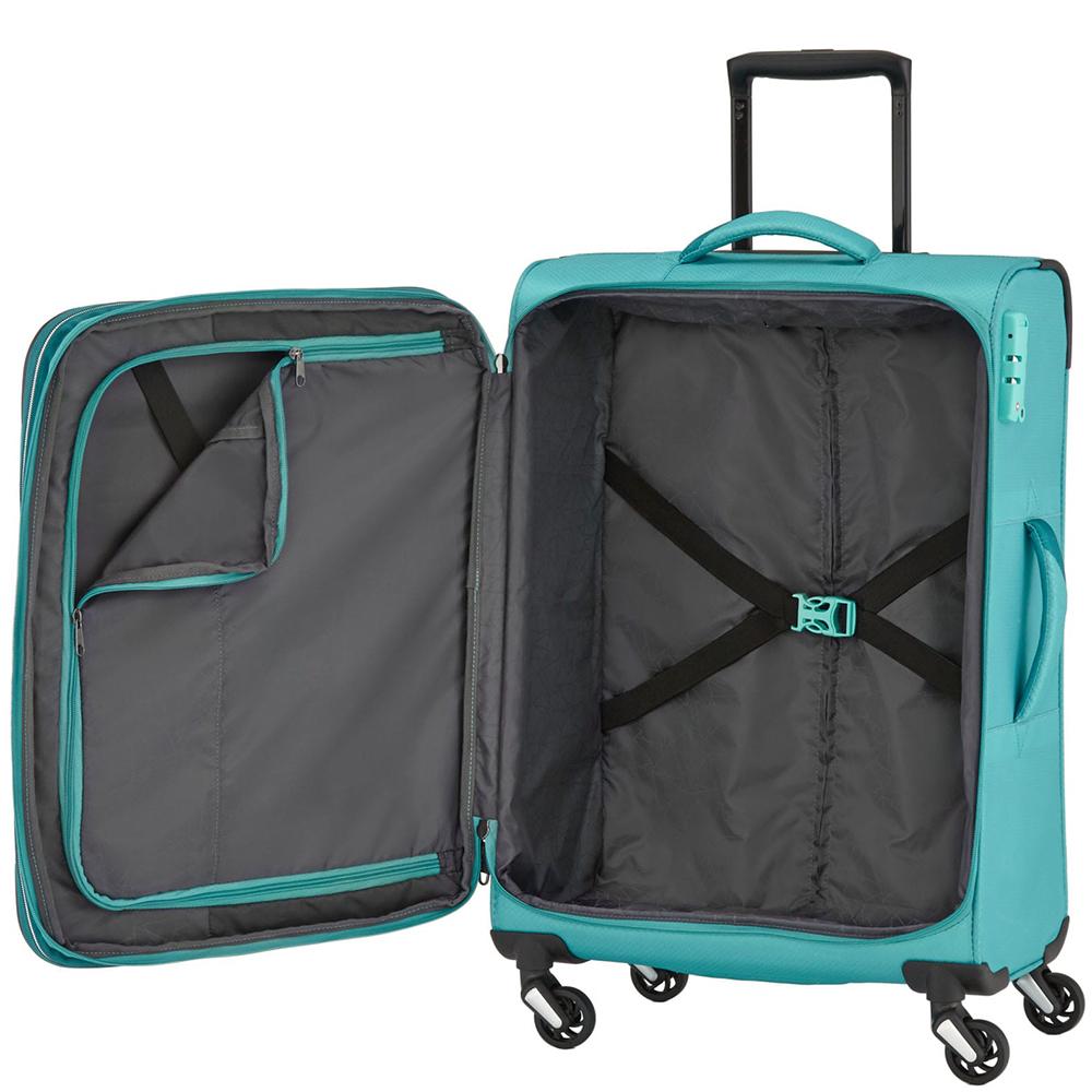 Большой чемодан 75x47х29-33см Travelite Kite выполнен в бирюзовом тоне