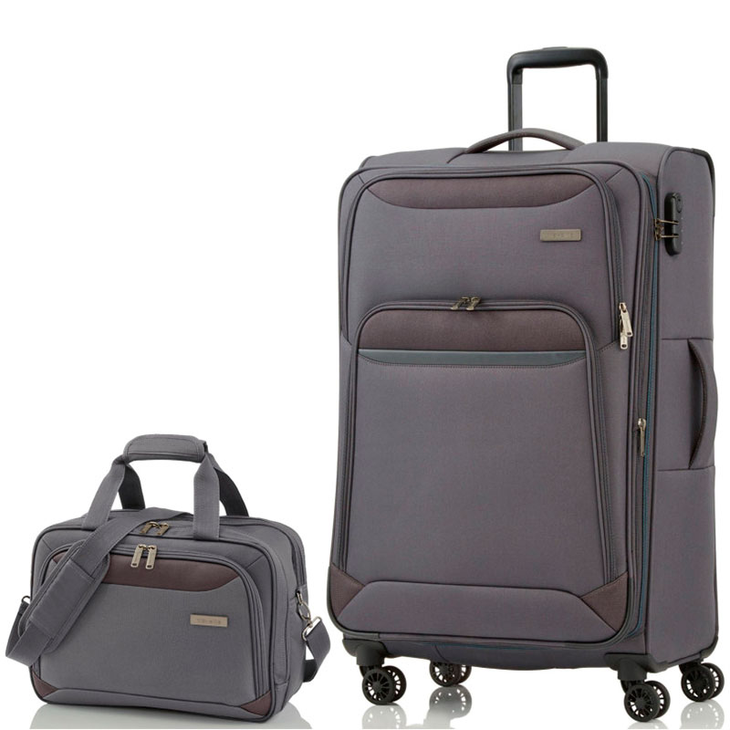 Чемодан большой Travelite Kendo  47x77x30/34см с сумкой