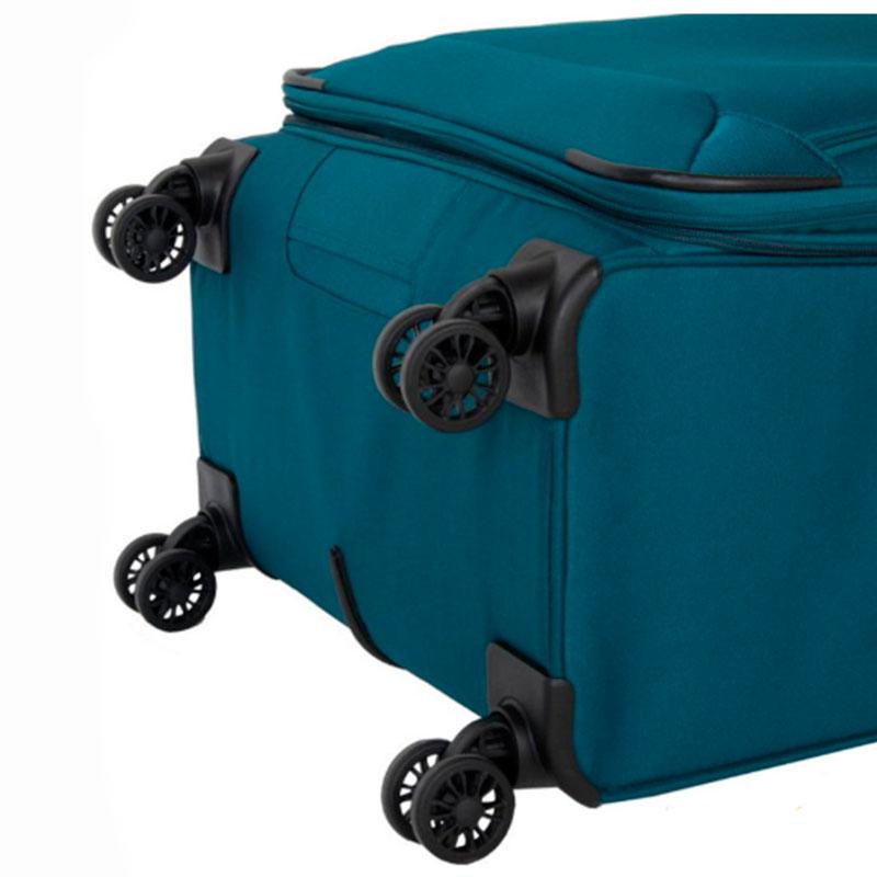 Чемодан Travelite Kendo синего цвета 47x77x30/34см с сумкой