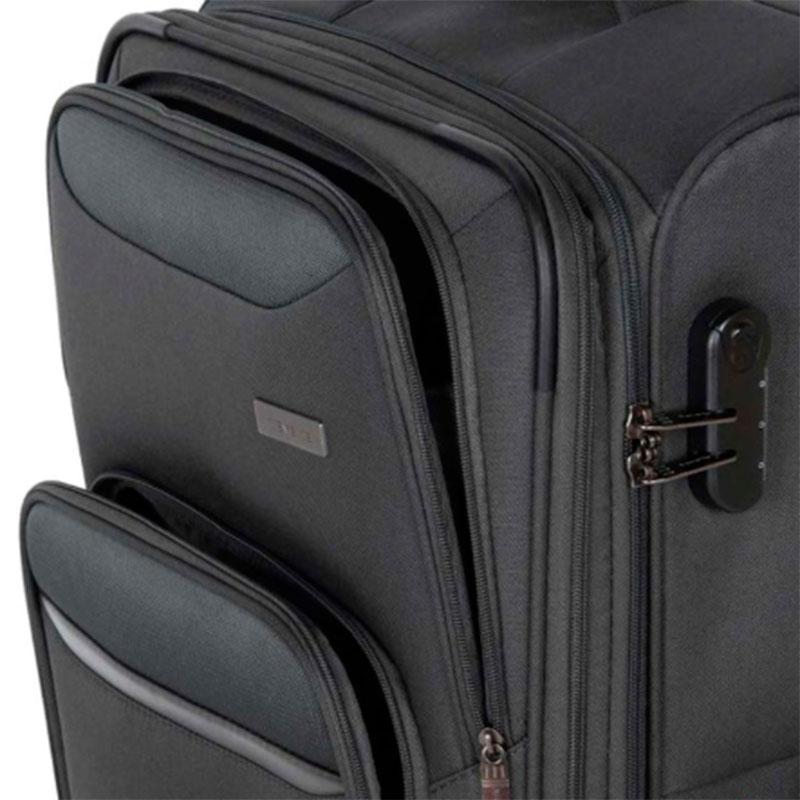 Чемодан Travelite Kendo серого цвета 42x66x26/30см