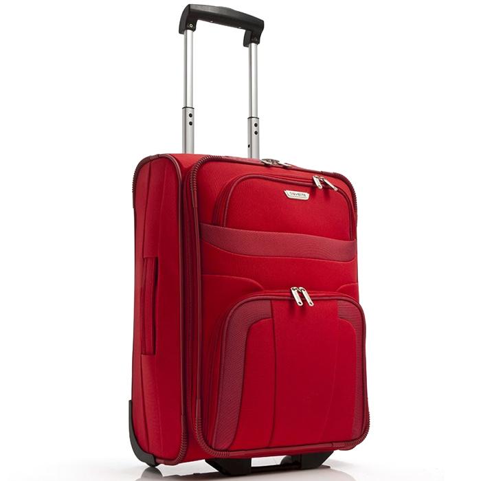 Набор чемоданов красного цвета Travelite Orlando с сумкой