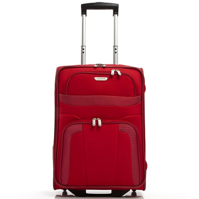 Чемодан маленького размера 53x37х20см Travelite Orlando красного цвета